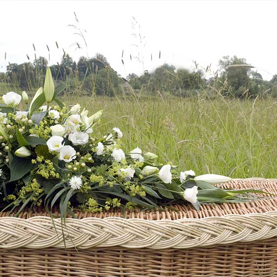 Bio Degradable Coffin at a Natural Death Funeral